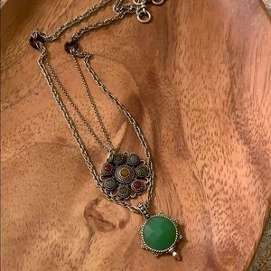 Lucky Brand Two-Tiered Pendant Necklace
